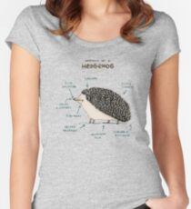 Anatomy of a Hedgehog Fitted Scoop T-Shirt