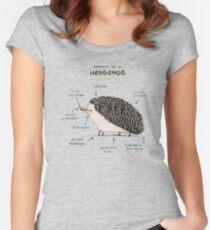 Anatomie eines Igels Tailliertes Rundhals-Shirt