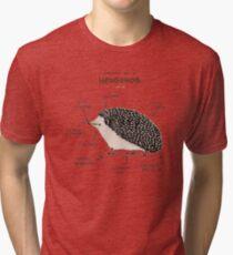 Anatomy of a Hedgehog Tri-blend T-Shirt