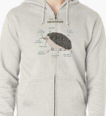 Anatomy of a Hedgehog Zipped Hoodie