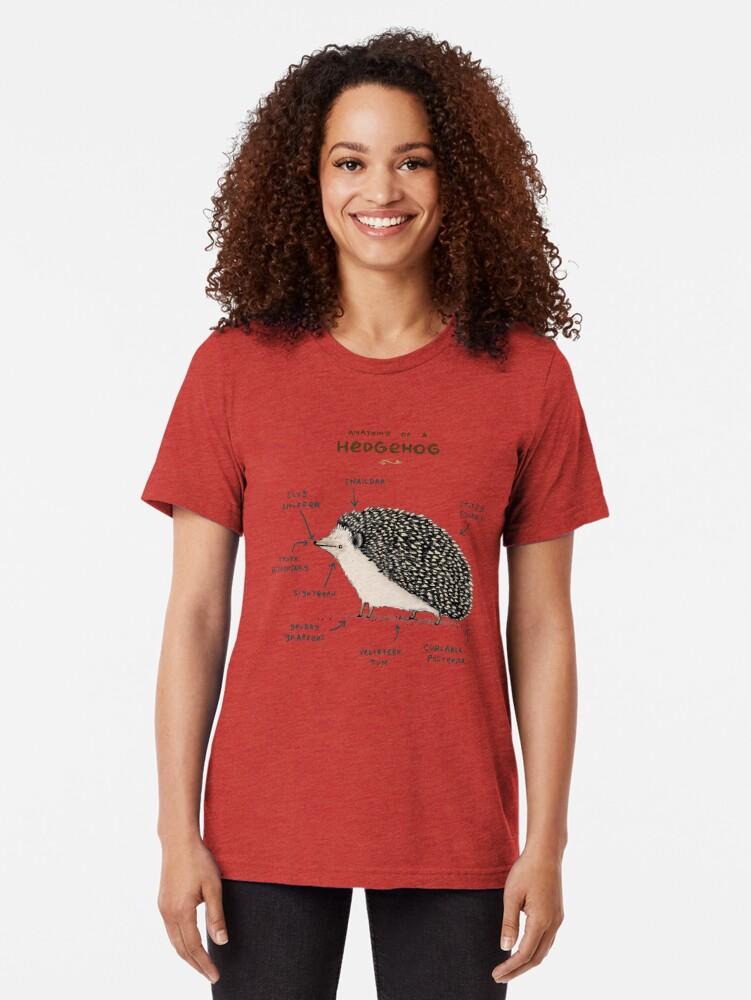 Alternative Ansicht von Anatomie eines Igels Vintage T-Shirt