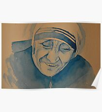 Mother Theresa laughing Poster