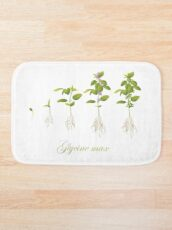 Soybean (Glycine max) plant development Bath Mat