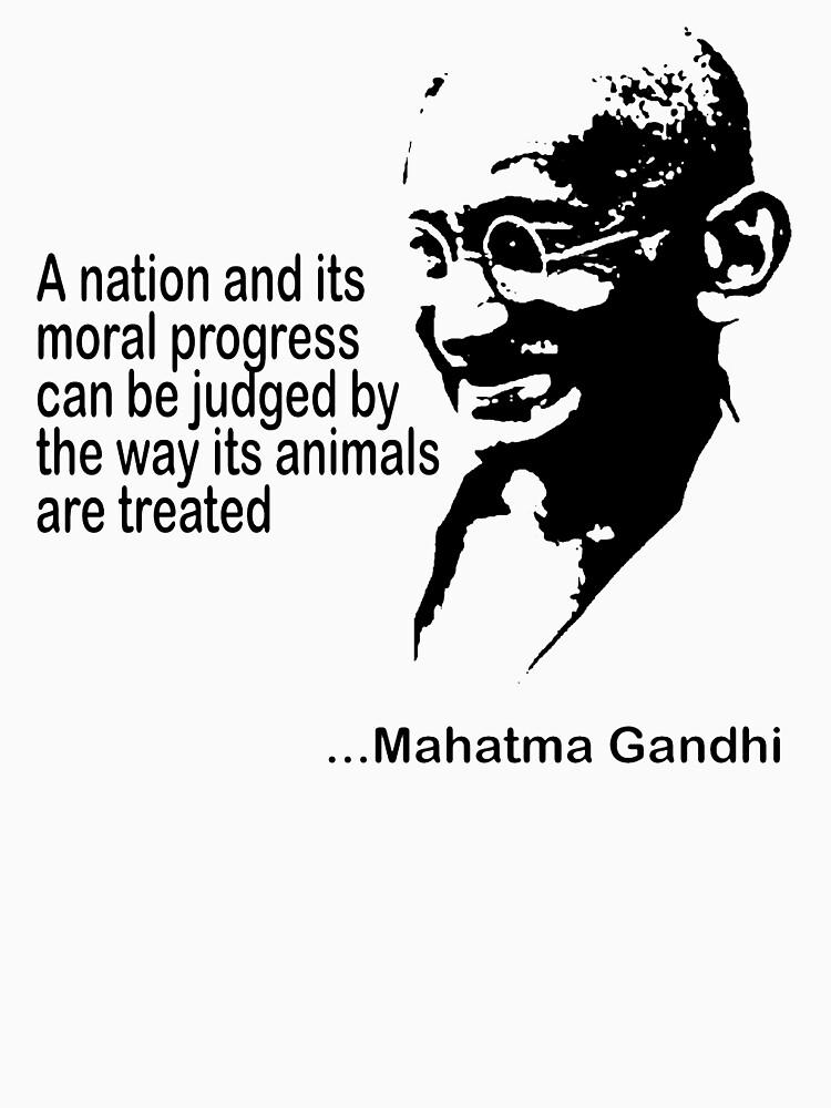 Gandhi Animal Rights T-Shirt | Women's T-Shirt