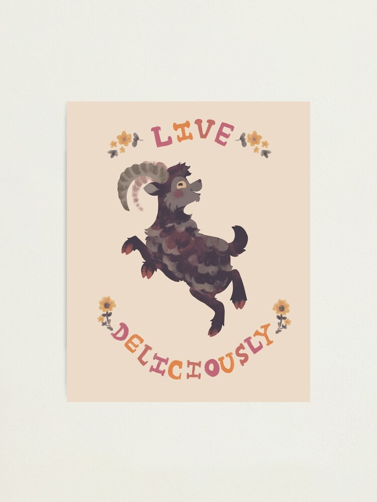 Alternate view of Live Deliciously Photographic Print