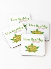 CBD - Live Healthy - NOT High Coasters