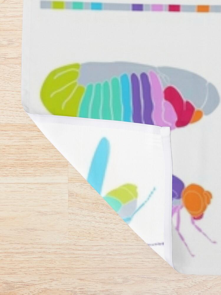 Alternate view of Drosophila Hox Genes  Shower Curtain