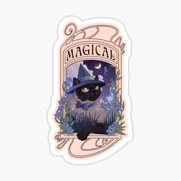 Witches Familiars: Magical Siamese Cat Sticker