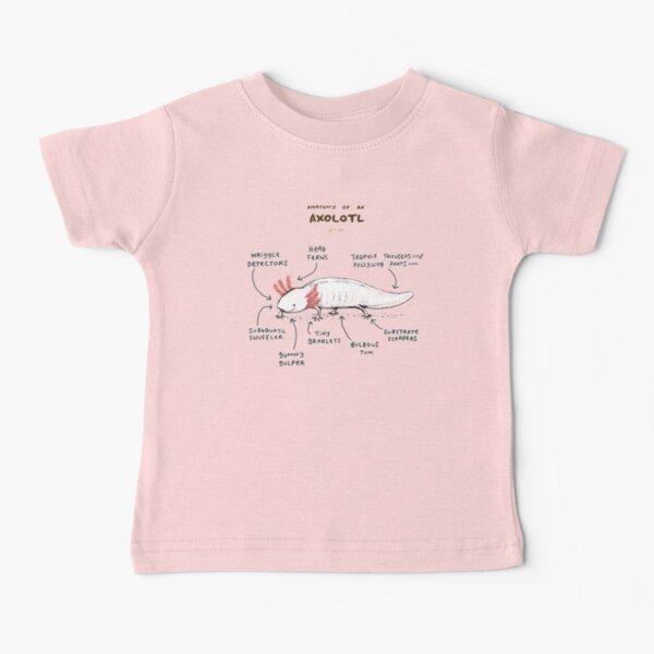 Anatomy of an Axolotl Baby T-Shirt