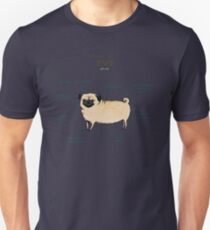 Anatomy of a Pug Unisex T-Shirt