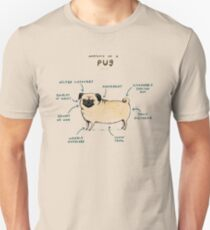 Anatomy of a Pug Unisex T-Shirt