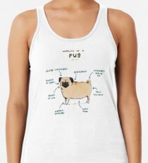 Anatomy of a Pug Women's Tank Top