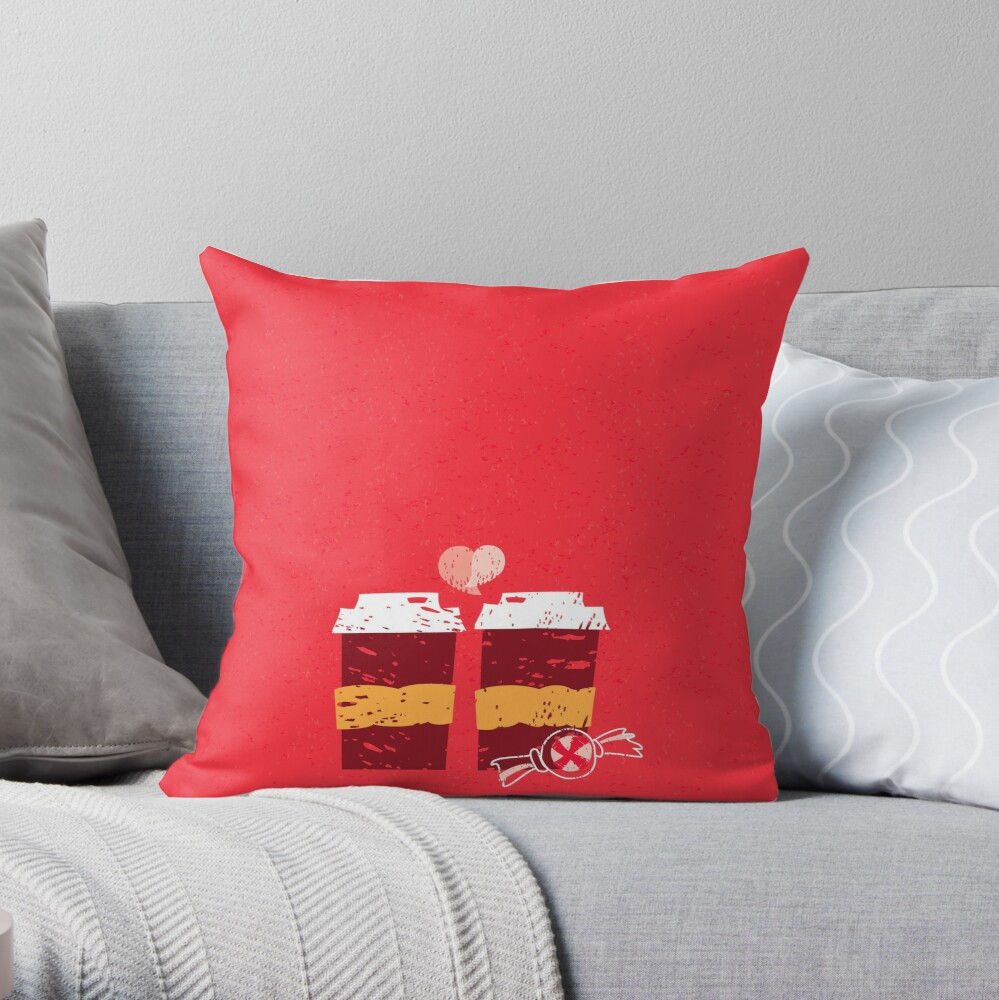 Coffee for Two Throw Pillow