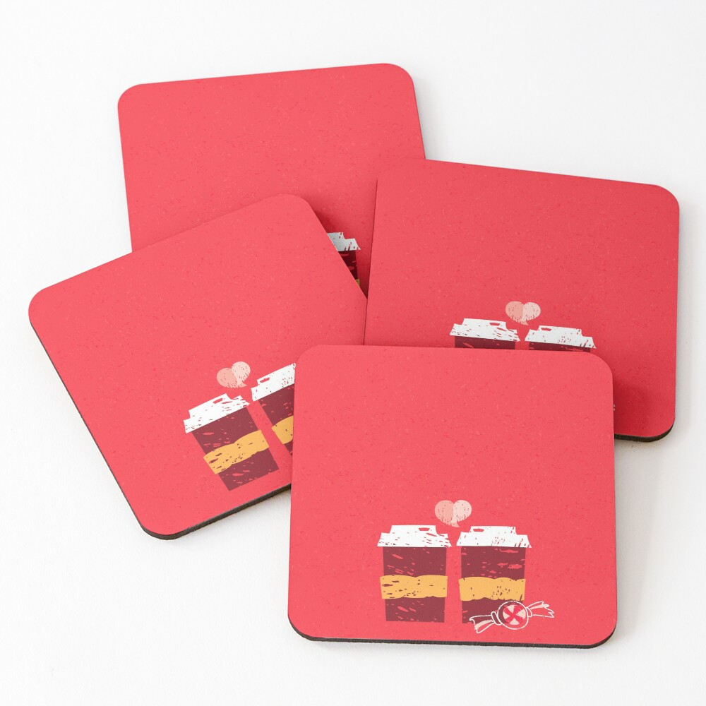 Coffee for Two Coasters (Set of 4)