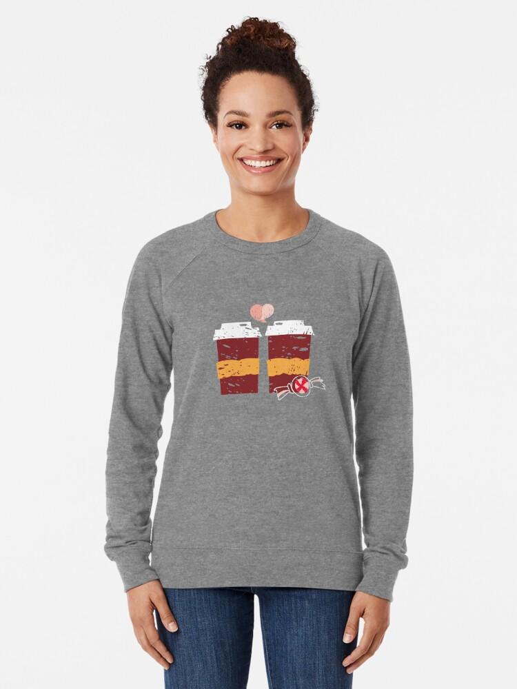 Alternate view of Coffee for Two Lightweight Sweatshirt