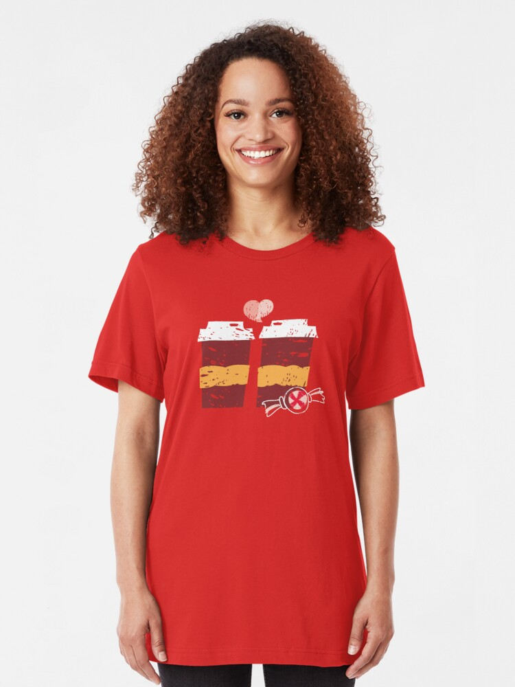 Alternate view of Coffee for Two Slim Fit T-Shirt