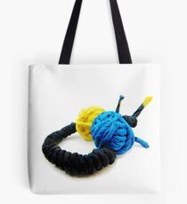 JUMPING COLORS - blue and yellow on a ring -   Tote Bag