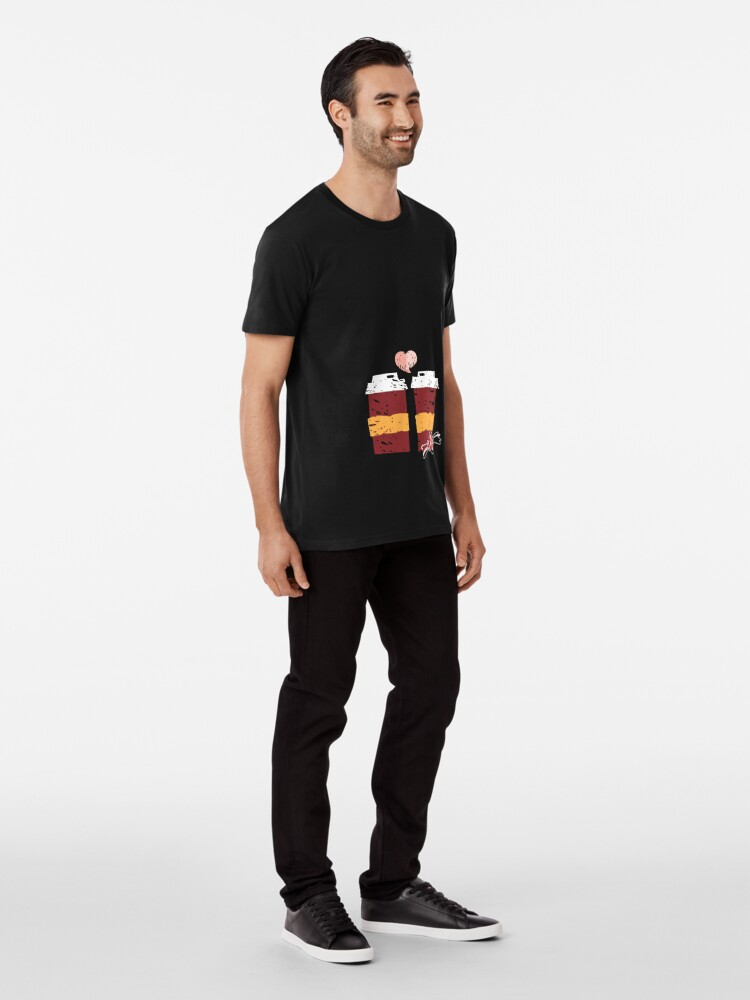Alternate view of Coffee for Two Premium T-Shirt