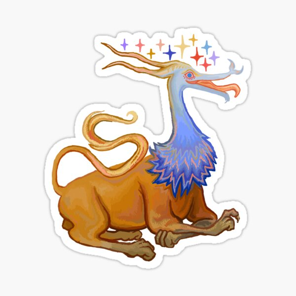 possibly a griffin  Sticker
