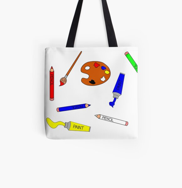 Art Supplies Colour All Over Print Tote Bag