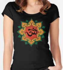 """Om"" India, Hindu, Hinduism T-Shirt Women's Fitted Scoop T-Shirt"