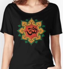 """Om"" India, Hindu, Hinduism T-Shirt Women's Relaxed Fit T-Shirt"