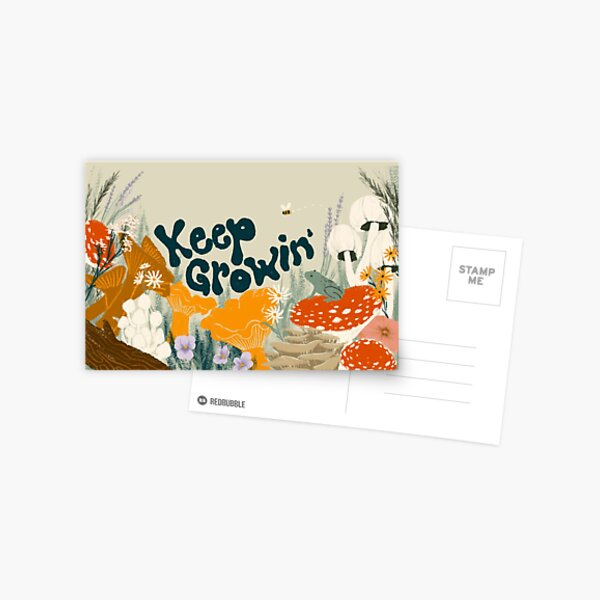 Keep Growin Postkarte