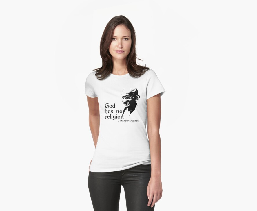 "Gandhi ""God Has No Religion"" T-Shirt by T-ShirtsGifts"