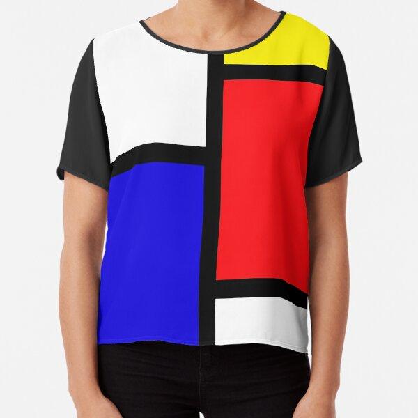 Mondrian Chiffon Top