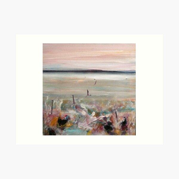 Sunset on Lake Camm 2 Art Print