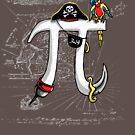 Good Pi Gone Bad Pirate Pi Symbol by MudgeStudios