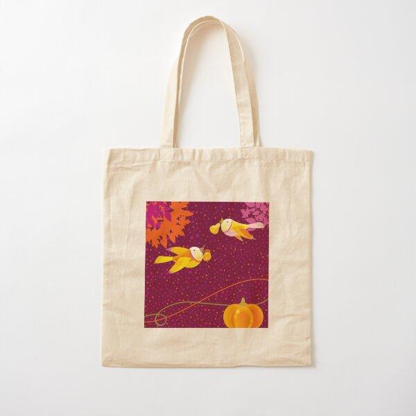 Autumn Love Cotton Tote Bag