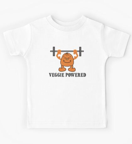 "Vegetarian ""Veggie Powered"" T-Shirt Kids Clothes"
