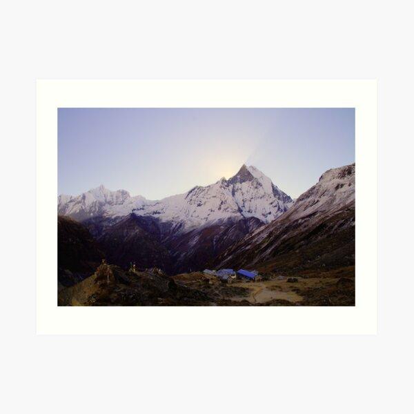 Annapurna Base Camp, Nepal. Art Print