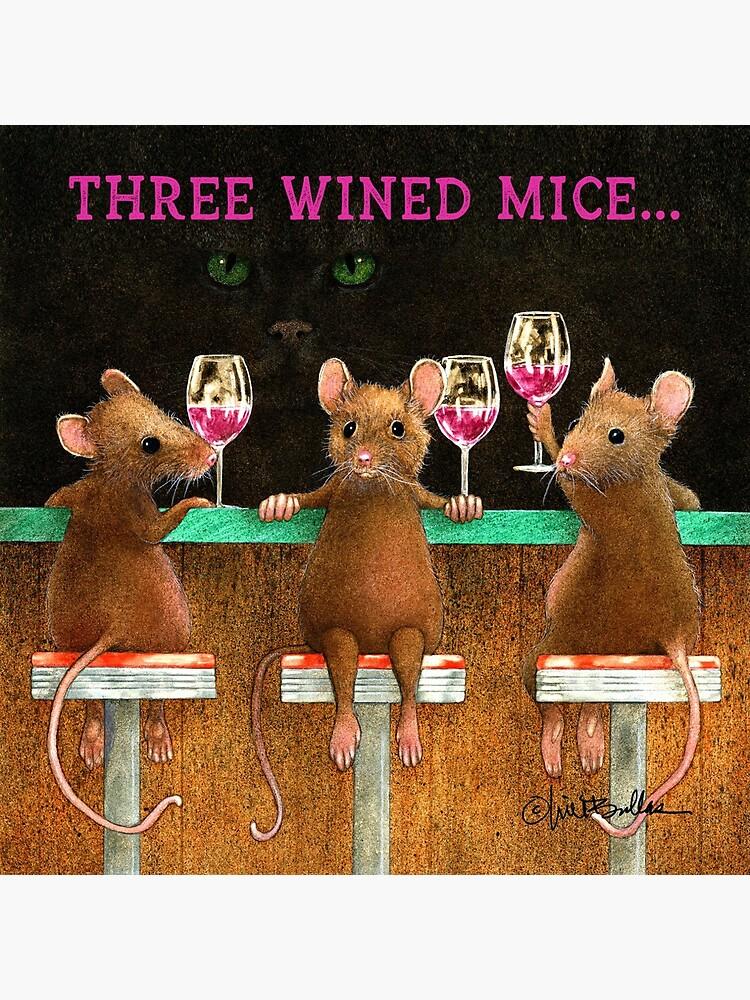 Will Bullas / coasters / three wined mice... / animals by willbullas