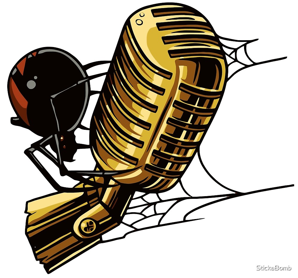 Microphone Spider by StickaBomb