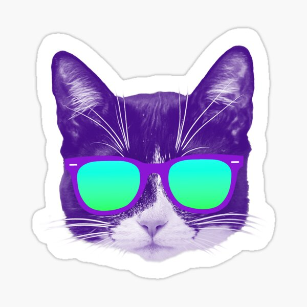Cool Cat with Sunglasses Sticker
