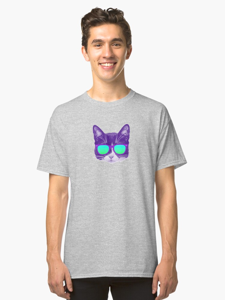 Alternate view of Cool Cat with Sunglasses Classic T-Shirt