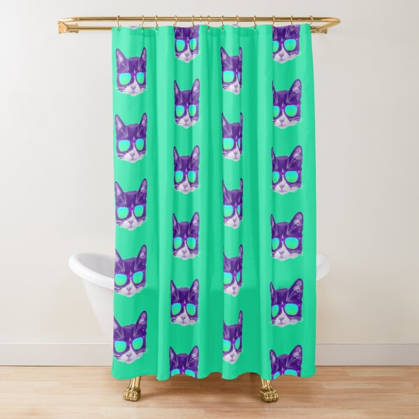 Cool Cat with Sunglasses Shower Curtain