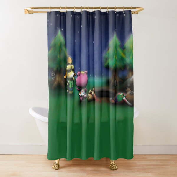 Who Killed Tom Nook? Shower Curtain