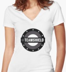 #TeamSHIELD Women's Fitted V-Neck T-Shirt
