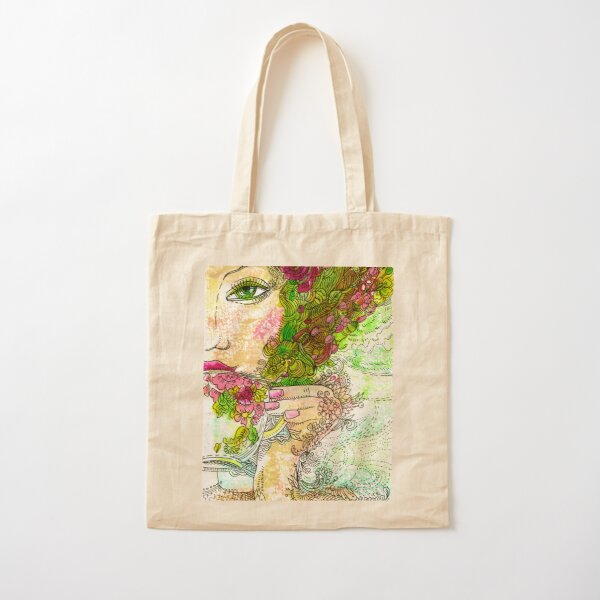 Morning Coffee Cotton Tote Bag