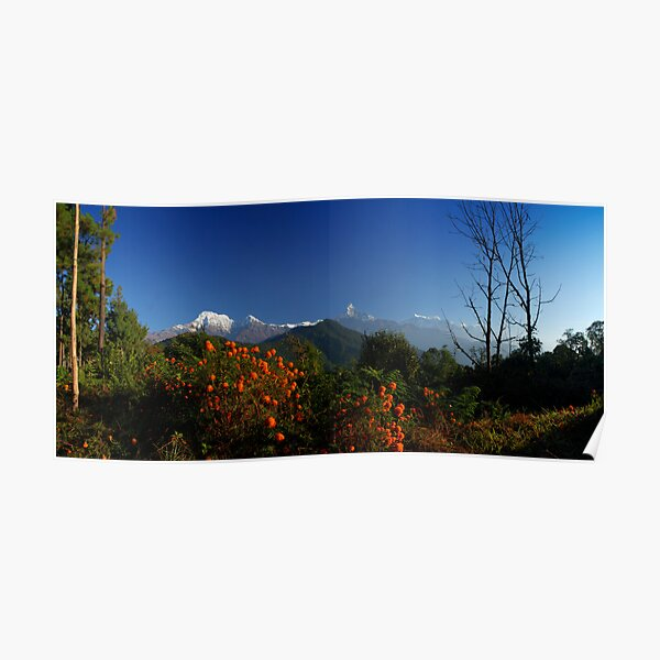 View from Potana, Nepal. Poster