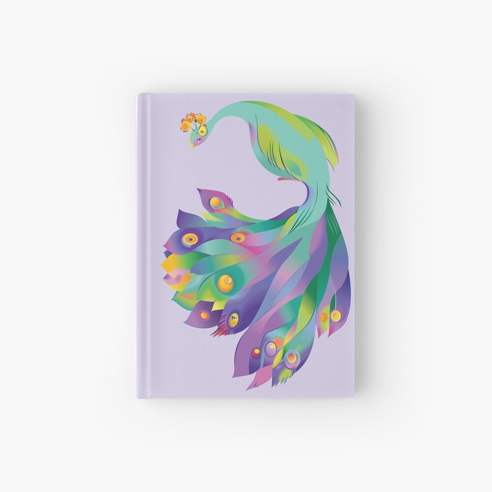 Peacock  Hardcover Journal