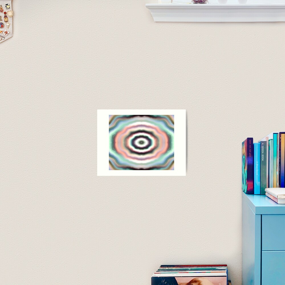 Mint Cream Tunnel Art Print