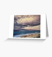 Sunrise on a Stormy Beach Greeting Card