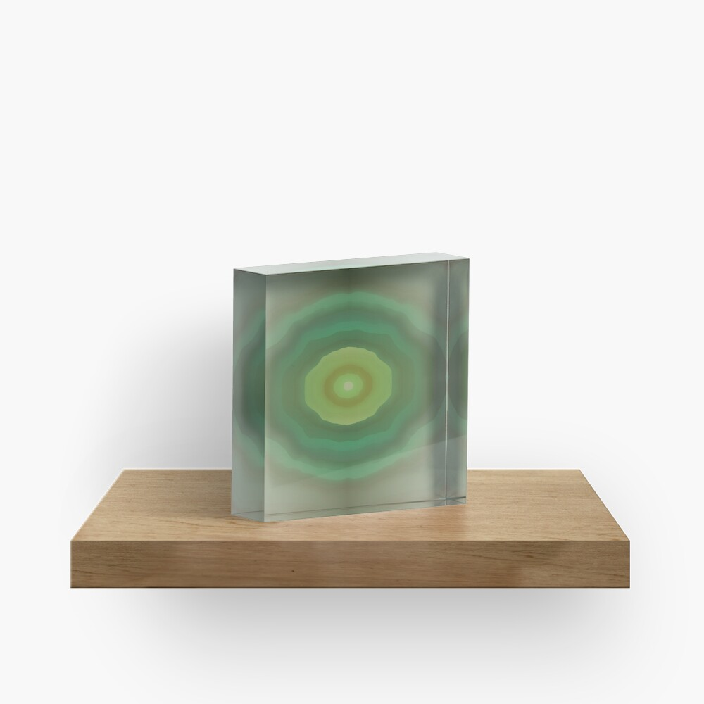 Dark Olive Green Tunnel Acrylic Block