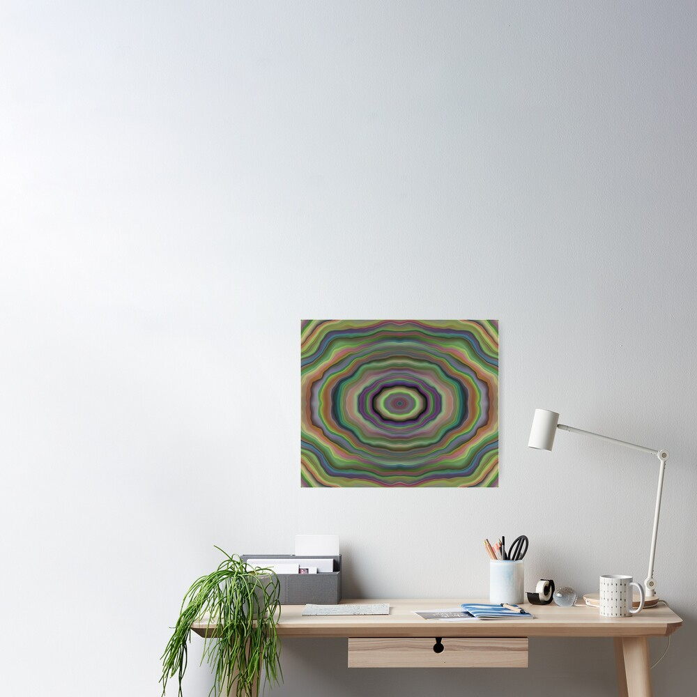 Colorful Tunnel Poster