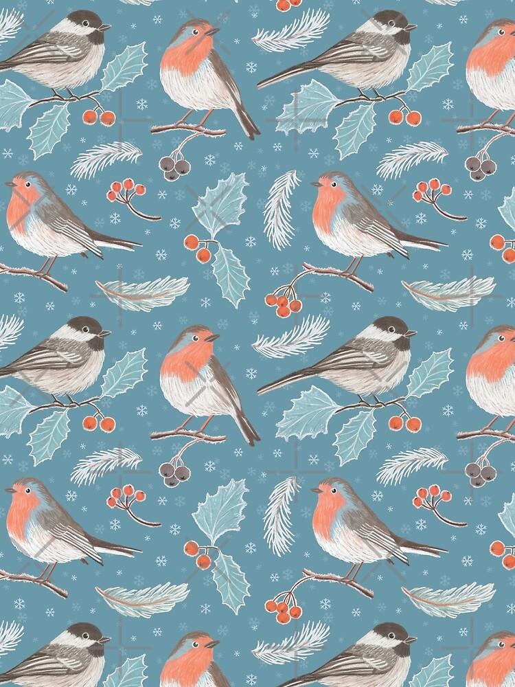 Winter Birds (with stickers) by nadyanadya