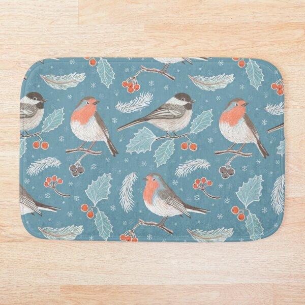 Winter Birds (with stickers) Bath Mat